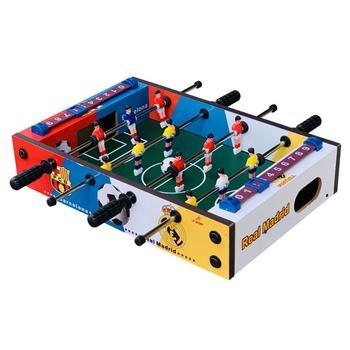 Stół do gry piłka nożna drewniany stół do piłki nożnej stół do piłkarzyków Party Kids Play zabawki Mini stół do piłki nożnej stół do piłki nożnej tanie i dobre opinie Mini Tabletop Football Wooden Soccer Game Table