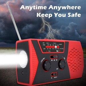 Image 4 - Аварийное радио, аварийное, на солнечной батарее, с AM/FM, светодиодный, для чтения, сигнал SOS