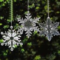 Brillo de cristal acrílico copo de nieve adornos de Navidad decoraciones de fiesta de cumpleaños decoración del Festival para el hogar suministros