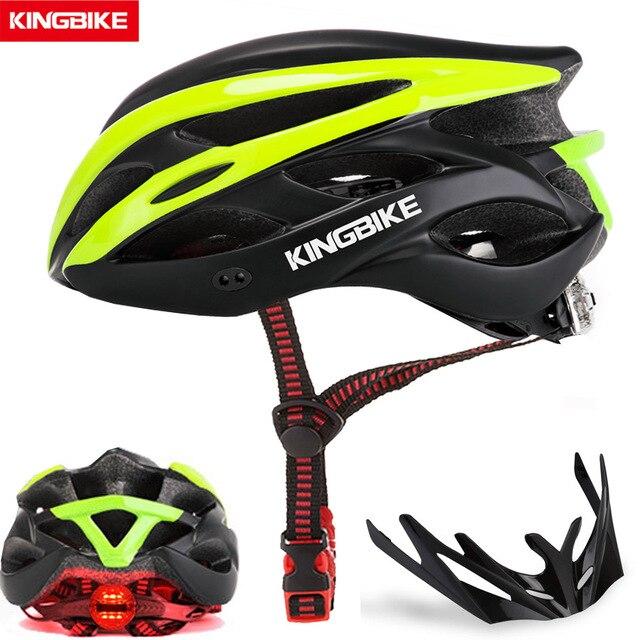 Kingbike capacete de bicicleta ultraleve, capacete de ciclismo para montanha, estrada, mtb, capacetes de luz traseira para homens e mulheres, esportes ao ar livre 1