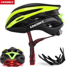 KINGBIKE kask rowerowy Ultralight kask rowerowy górska droga MTB tylne światło kaski dla mężczyzn kobiety odkryty kask sportowy tanie tanio (Dorośli) mężczyzn L-629R 0 26kg 16-20 Light Helmet bike helmet Bicycle helmet Men Women Bike Helmet PVC+EPS Mountain Road mtb helmet