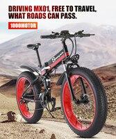 Electric bike  ebike 48V1000W electric mountain bike electric folding bike  4.0 fat tire Electric Bicycle beach  Neve Snow bike|Electric Bicycle| |  -