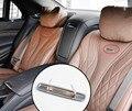 4 шт., хромированные металлические наклейки на спинку сиденья Mercedes Benz MAYBACH BRABUS AMG