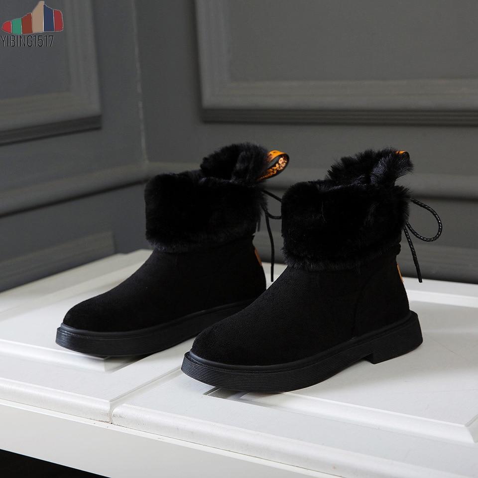 Botas a media pantorrilla botas altas impermeables para mujer nieve invierno zapatos mujer felpa plantilla Bota femenina 2019