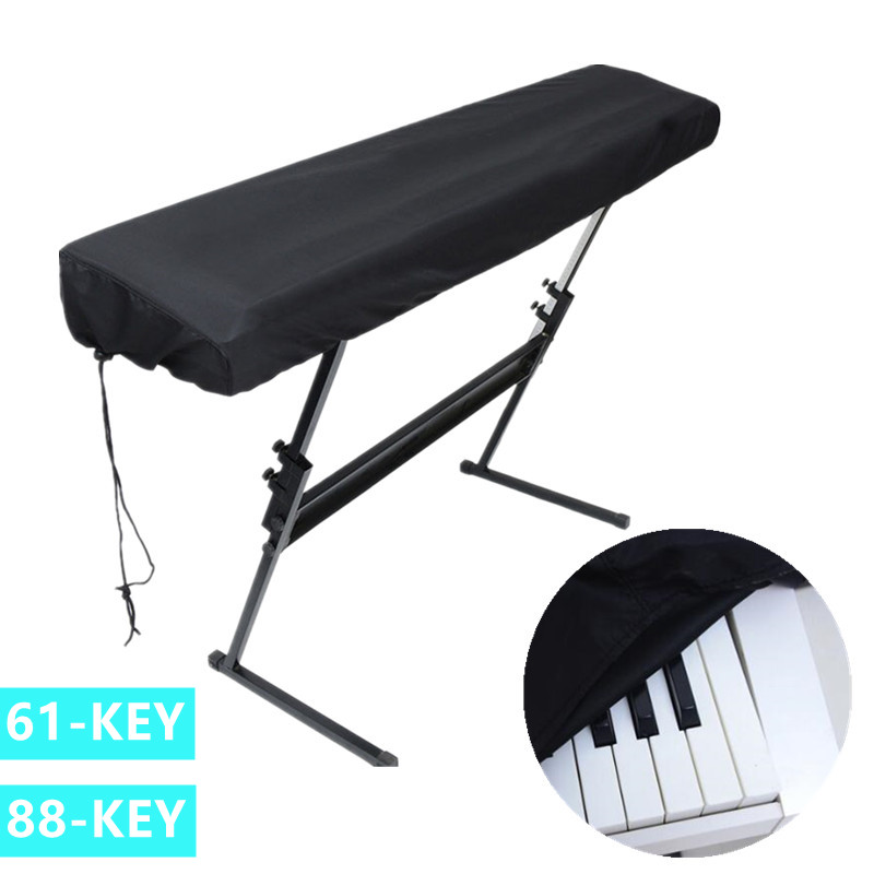 61/88 Keys Piano Keyboard Covers Piano Keyboards Stretchable Dust Proof Folding Waterproof Covers With Drawstring Locking Clasps