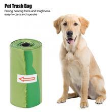 8 рулонов/120 шт зеленый пластиковый мешок для мусора, утолщенные мешки для мусора для домашних собак, прочный мешок для мусора