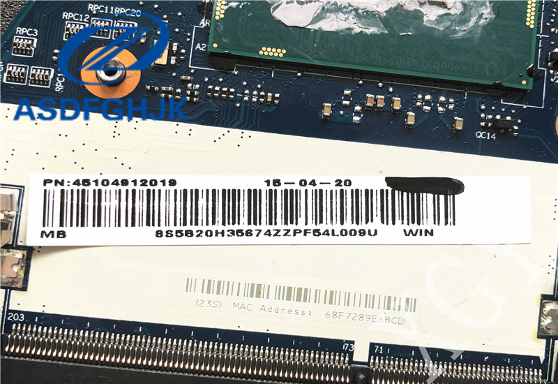 Laptop motherboard for Lenovo for YOGA3 14 Motherboard BTUU1 <font><b>NM</b></font>-<font><b>A381</b></font> REV: 1.0 DDR3L with I7-5500U Non-integrated 100% test OK image