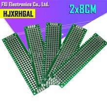 5 шт. 2x8 см 2*8 двухсторонний Прототип PCB diy универсальная печатная плата igmopnrq