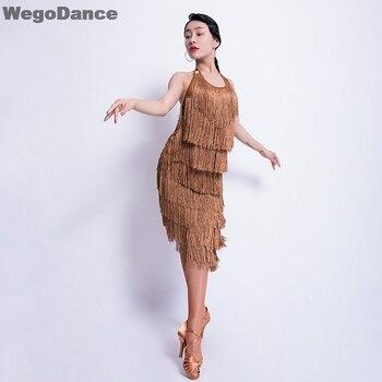 New Lady Performance Latin Dance Clothes Senior Women Tassel Latin Dance Dress Girls Latin Dance Show Latin Dance Dresses gisbert brom bullarium trajectense latin edition