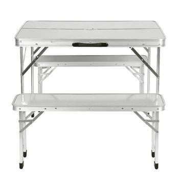 Stół piknikowy wodoodporny Ultra lekkie trwałe składany stół biurko na zewnątrz składany stół stół i krzesła Camping stop Aluminium HWC tanie i dobre opinie CN (pochodzenie) 90*60*70cm Nowoczesne Metal aluminum HW212347 Support