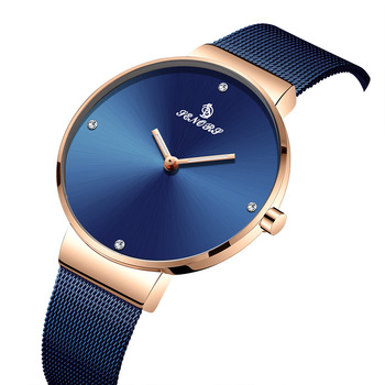 Simple hot-selling fashion ultra-thin ladies watch Milan with waterproof quartz watch SN036 sanda new ultra thin watch ladies student quartz watch simple trend korean version of the milan network with women s watch