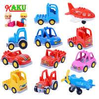 Compatível Legoed Duplos Tamanho Grande Tijolo Conjunto de Blocos de Construção Crianças Brinquedo Do Carro de Engenharia Caminhão Modelo Figura Presente Brinquedo Educacional