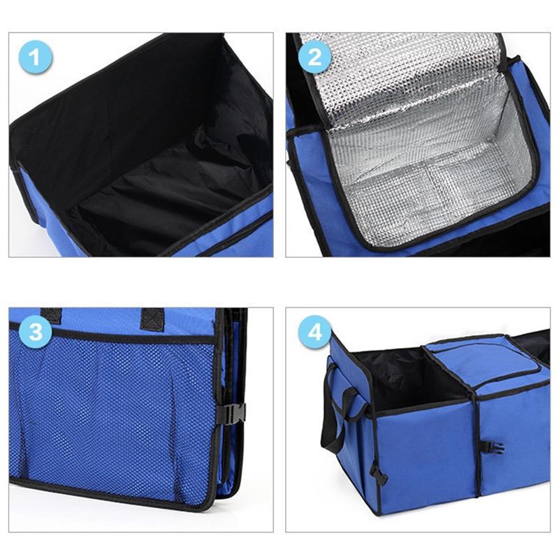 Универсальный автомобильный органайзер для хранения багажника, складные ящики для хранения игрушек, продуктов, грузовиков, грузовых контейнеров, сумки, коробка, черный автомобиль, укладка, новый