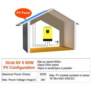 Image 5 - EASUN POWER 5000w Hybrid Solar power inverter 48v 230vac Grid gebunden + off grid 80A MPPT solar ladegerät 450vdc PV eingang