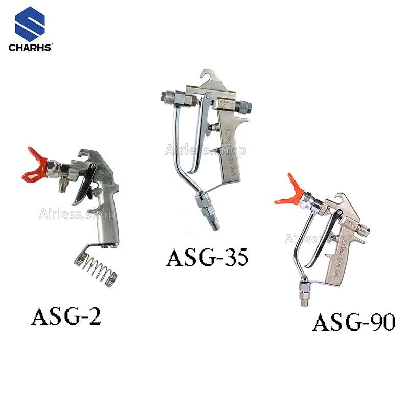 CHARHS airbrush ASG-2/35/90Airless Paint Spray Gun 345bar / 5000psi Putty Spray Gun High Pressure airbrush 2-finger trigger
