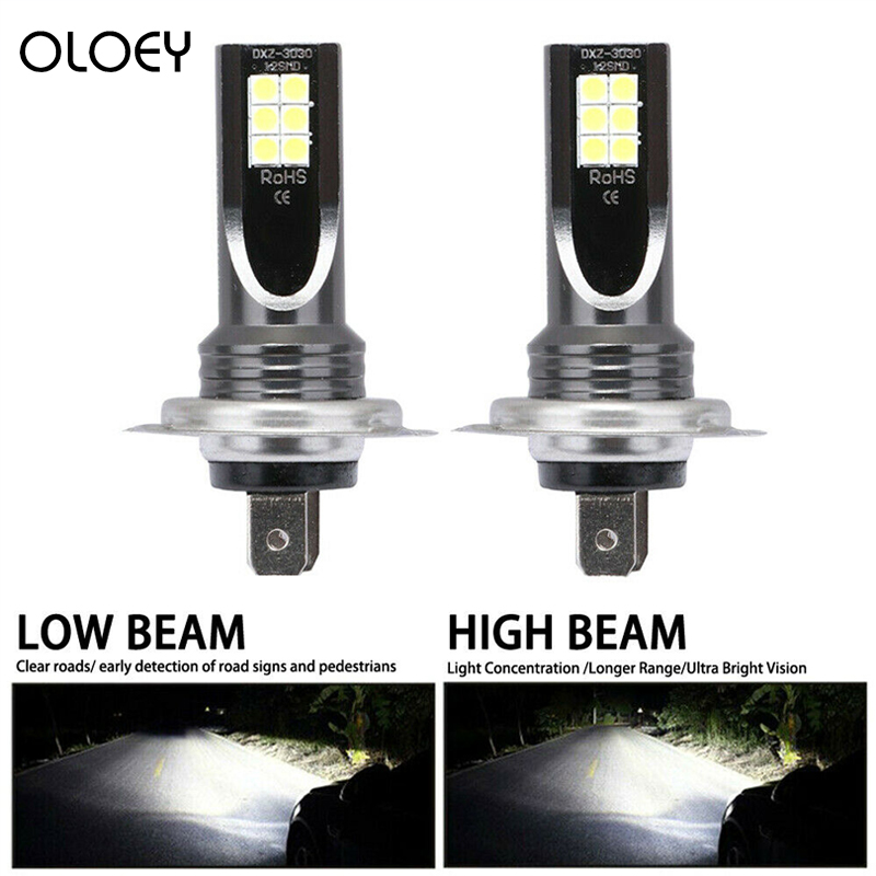 2Pcs/Set H7 110W LED Car Headlight Conversion Globes Bulb Beam 6000K Hot