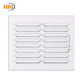HBI 1-Way W10 x H8 Curved-Blade Ventilation Grille Air Outlet Valve Air Supply Register Air Vent Cover Steel Ceiling/Sidewall curved air curved air airborne cd digisleeve