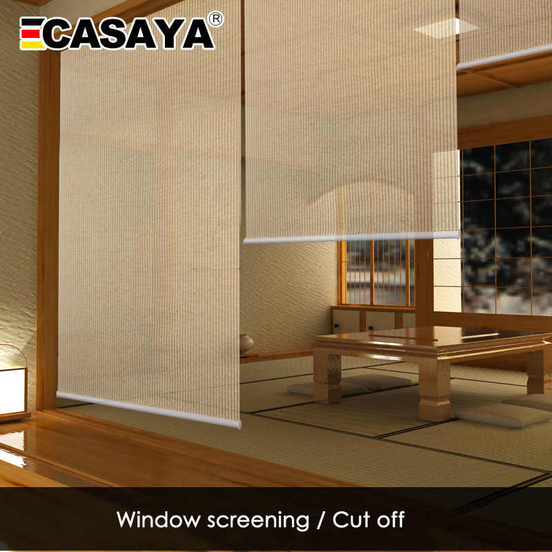 Casaya Japanese Paper Blinds Eco Friendly Teahouse Roller Blinds Separates Balcony Living Room Studio Window Blinds Blinds Shades Shutters Aliexpress