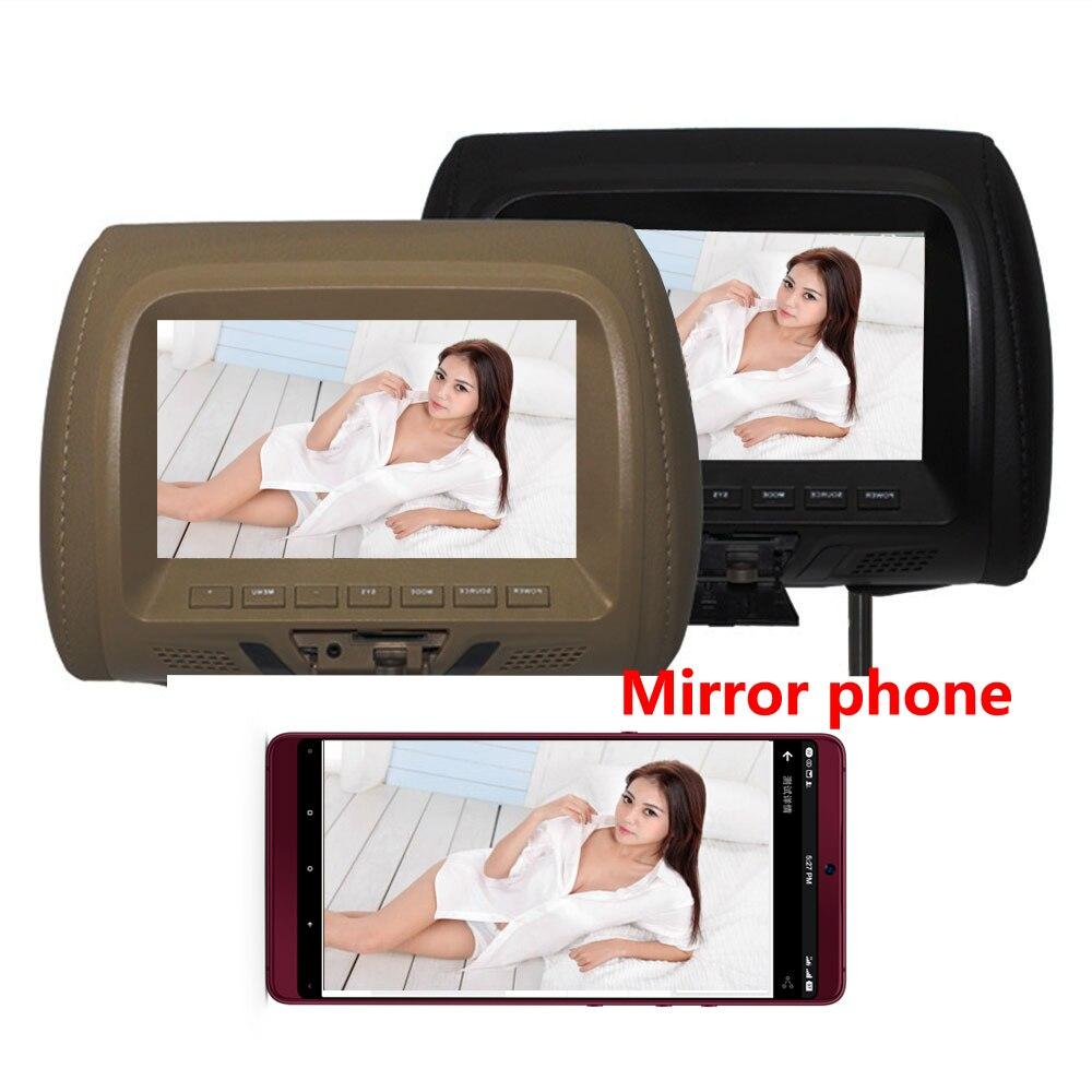 Universal 7 zoll TFT led-bildschirm Auto MP5 player Kopfstütze monitor Unterstützung AV/USB/SD eingang/FM /lautsprecher/Auto kamera