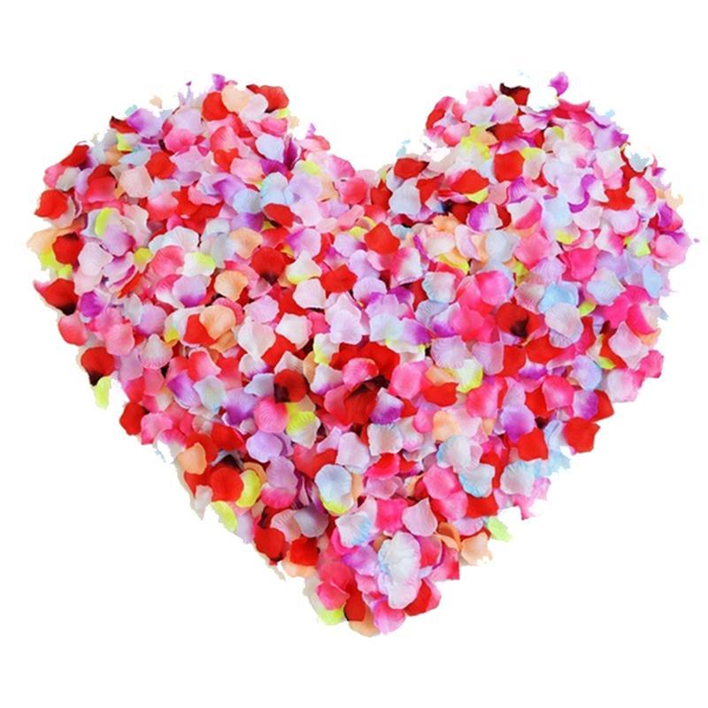 500pcs Artificial Silk Flower Petals For Wedding Party Bridal Events Romantic Decoration Fake Rose