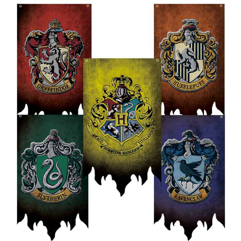 Gryffindor Birthday Party Supplies College HP Flag Banners Boys Girls Kids Halloween Decoration Christmas Gift