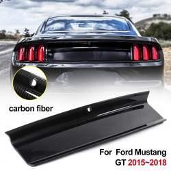 In Fibra di carbonio ABS Cofano del Bagagliaio Posteriore Decklid Pannello di Copertura Kit Tronco Boot Cofano del Pannello Per Ford Mustang 2015 2016 2017 2018 2019