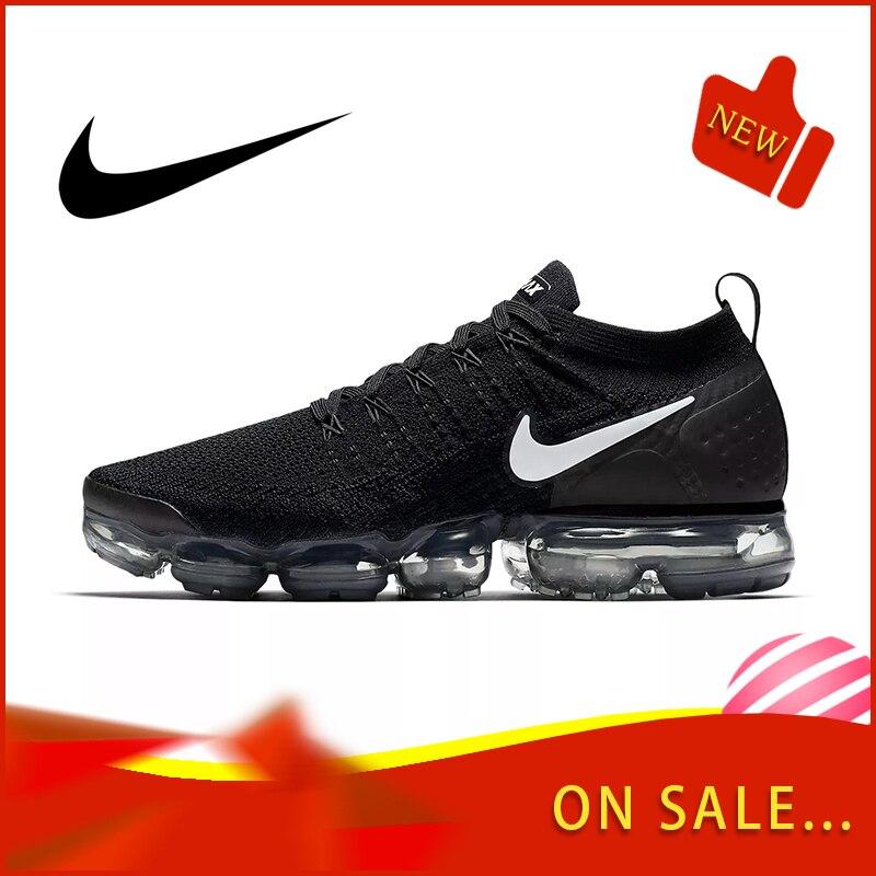 Original authentique NIKE AIR VAPORMAX FLYKNIT 2.0 hommes chaussures de course en plein AIR porter des chaussures de sport respirant 2018 nouveau 942842-001