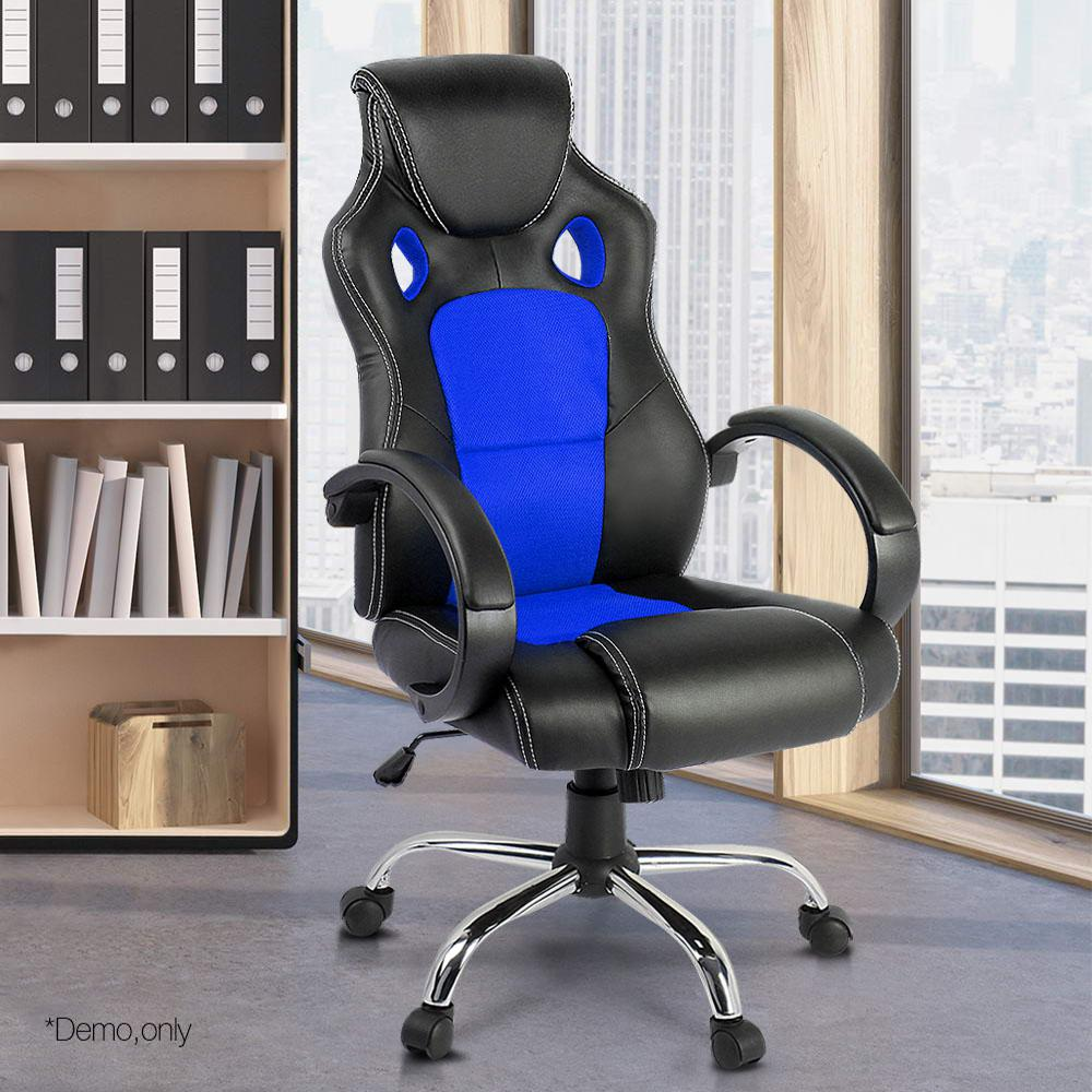 Modern Style PU Leather Office Desk Chair 360 Degree Adjustable Rotating Lift Massage Chair With Footrest Armrest Reclining A2