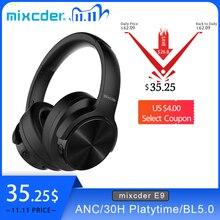 Беспроводные наушники Mixcder E9, Bluetooth гарнитура с активным шумоподавлением, звук Hi Fi, глубокие басы, время работы 30 часов