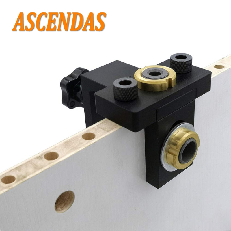 Doweling Jig Pocket Hole Jig Kit Vertical Drilling Detachable Locator For Furniture Connecting Hole Puncher Carpentry Tools