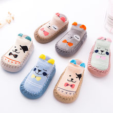 New Baby Socks With Rubber Soles Infant Newborn Baby Girls Boys Autumn Winter Children Floor Sock Shoes Anti Slip Soft Sole Sock(China)