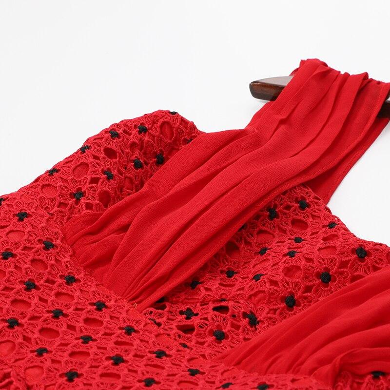 AELESEEN сказочные платья для женщин 2019 Новая мода подиумная Высококачественная Роскошная вышивка кружева с открытыми плечами ленты в стиле ам... - 4