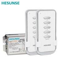 Interruptor de Control remoto inalámbrico, dispositivo Digital RF de 4 vías, 85V- 250V, con 2 controladores, HS-QA024, 2N1, Envío Gratis