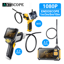 Endoscope 1080P Upgraded version 4.3 inch Industrial Inspection Camera for Auto Repair Tool Snake Hard Handheld Wifi Endoscope цена и фото
