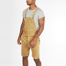 Mens Jumpsuit Adjustable Strap Shorts Fashion Plus Size Solid Slim Fit Vintage Casual Romper