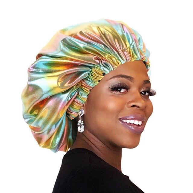 Двухслойная шелковая шапочка большого размера для женщин головной
