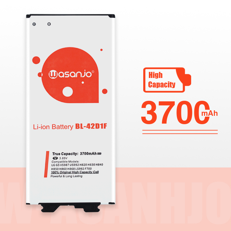 High Capacity Original 3700mAh BL-42D1F Battery For LG G5 VS987 US992 H820 H840 H850 H830 H831 H868 F700S F700K H960 H860N LS992