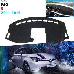 Pokrywa deski rozdzielczej podkładka ochronna dla MG 3 2011 2012 2013 2014 2015 2016 akcesoria samochodowe deska rozdzielcza osłona przeciwsłoneczna anty uv dywan dla MG3|Naklejki samochodowe|   -
