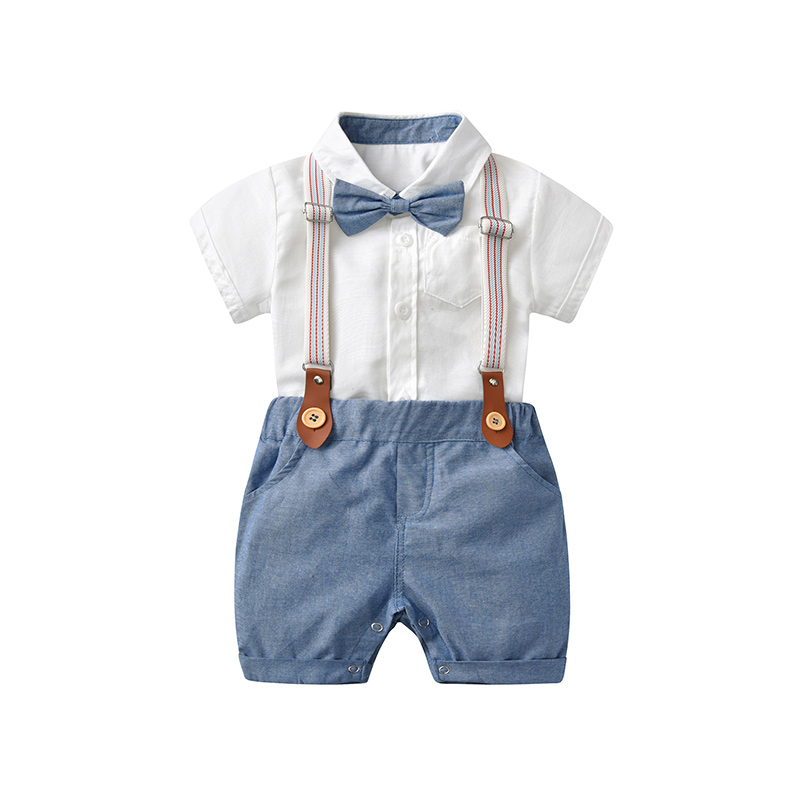 Summer Newborn Infant Boy Clothes Set Gentleman 0-24 Months Kids Baby Boy Gentleman Clothing Wedding Party Toddler Outfits Suit