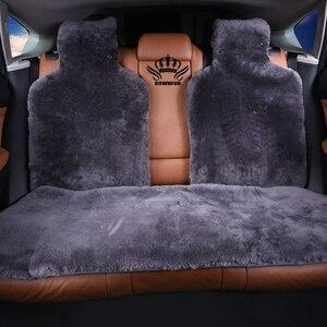Image 2 - Futrzane peleryny na siedzeniu samochodu australijskiego 100% futra z owczej skóry Mouton premium pokrycie siedzenia samochodu szary dla samochodu lada granta