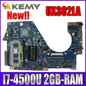 Akmey UX302LA Motherboard I7-4500U 2GB-RAM mainboard For Asus UX302LA UX302LG UX302LNB UX302 Laptop motherboard 100% Tested k541u for asus x541uv x541uvk a541u x541uj f541u x541u r541u laptop motherboard mainboard 100