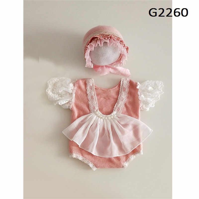 Atrezos para fotografía de bebés recién nacidos, traje de bebé, sombrero de encaje, fotografía de bebé, niña, mono, traje de sesión de fotografía