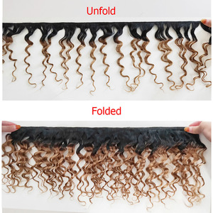 Image 2 - MOGUL שיער 50 גרם\יחידה 4/6 חבילות עם סגירת מים גל Ombre בלונד דבש ברזילאי ללא רמי שיער טבעי חום קצר בוב סגנון