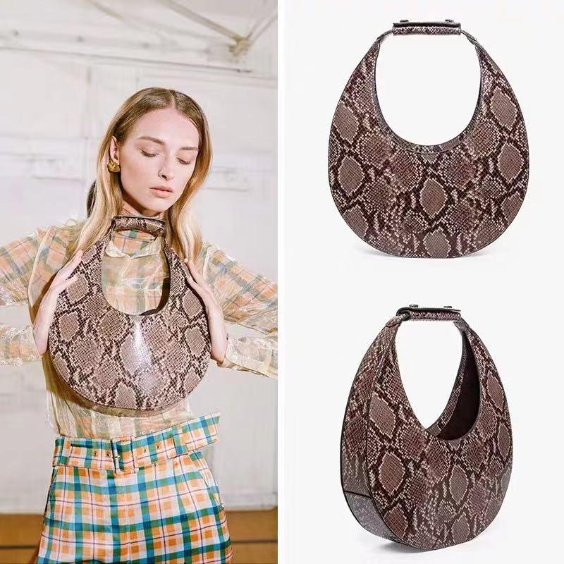 New Luxury Women's Handbag Brand Designer Crocodile Underarm Bag Serpentine Shell shap Shoulder Bags Clutch Purse Sac A Main Top-Handle Bags  - AliExpress