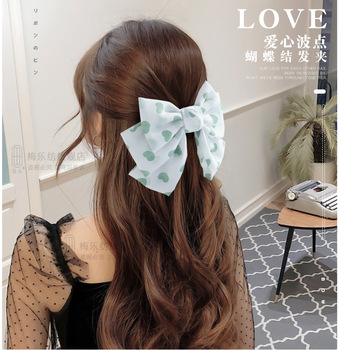 Three-layer Love Big bow Hairpins Korean Hairgrips For Girls  Hair Accessories Hair Clips For Girls Hairpin Hair Bows cotton linen fabric bows boutique hair bow clips sailor bow hair barrettes hairgrips baby girls women hair accessories headwear