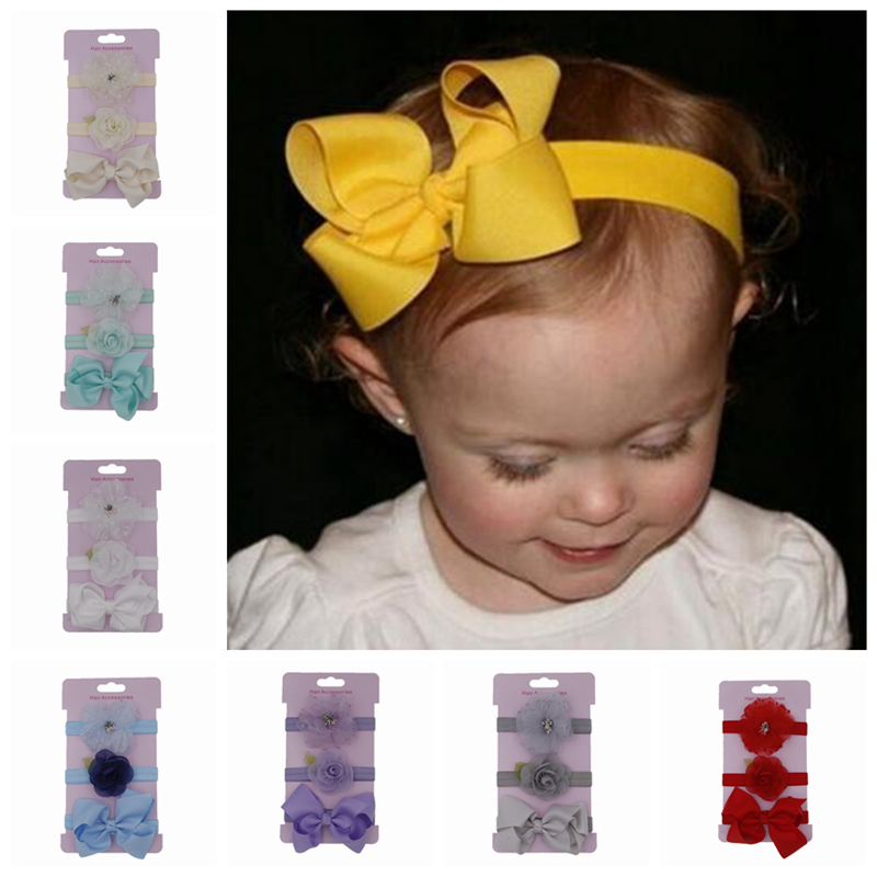 50pcs Kids Baby Girl Stretch Elastic Lace Heabands Hairband accesories DIY