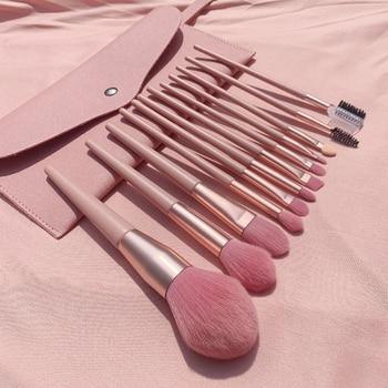 13pcs/set Champagne makeup brushes set for cosmetic foundation powder blush eyeshadow kabuki blending make up brush beauty tool недорого