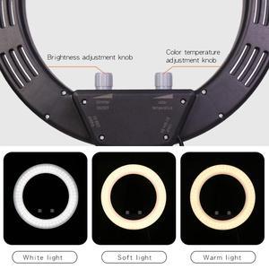 Image 3 - GSKAIWEN 10 w LED na żywo Selfie Studio makijaż uroda wideo ściemnialna lampa pierścieniowa ze statywem