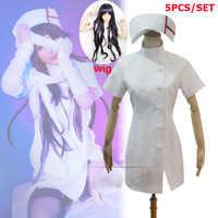 Danganronpa 3 Seite: Verzweiflung Mikan Tsumiki Sexy Weiß Krankenschwester Cosplay Kostüm + bandage Nach Maß Halloween Kostüme Kostenloser Versand