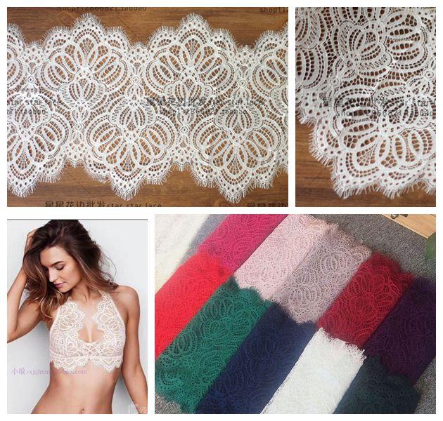 3 м/лот качественная французская кружевная ткань с ресницами, декоративная мягкая кружевная отделка «сделай сам», ткань для платья, нижнее б...
